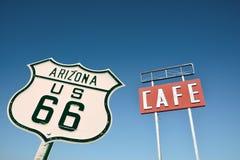 咖啡馆签到亚利桑那 免版税库存图片
