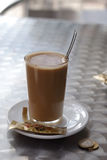 咖啡馆联系人leche 免版税库存图片
