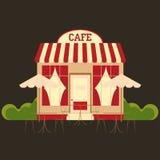 咖啡馆自助食堂 库存例证
