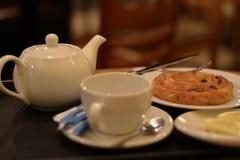 咖啡馆茶 免版税库存图片