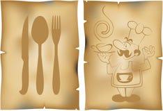 咖啡馆菜单 免版税库存照片