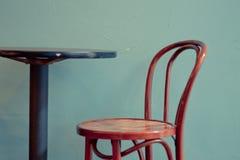 咖啡馆蓝色 库存照片