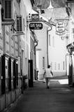 咖啡馆街道 免版税库存图片