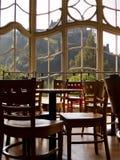 咖啡馆视窗 免版税库存照片