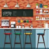咖啡馆设计 免版税库存图片