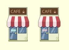 咖啡馆象 免版税库存照片