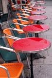 咖啡馆边路 免版税图库摄影