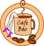 咖啡馆酒吧标志 免版税库存图片
