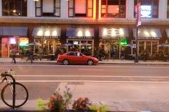 咖啡馆门面在芝加哥的中心 库存图片