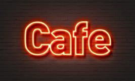 咖啡馆霓虹灯广告 向量例证