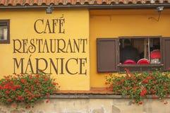 咖啡馆餐馆marnice 免版税库存照片