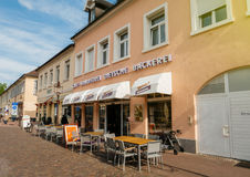 咖啡馆, konditorei, dietsche, backerei,在德国cit的咖啡馆门面 库存图片