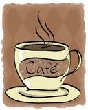 咖啡馆 库存例证