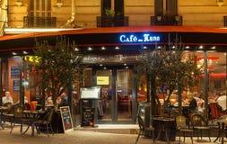 咖啡馆de月/月球是在蒙马特,巴黎,法国的一个咖啡馆 免版税图库摄影