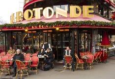 咖啡馆De la Rotonde,巴黎;法国 库存图片