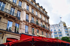 咖啡馆Fouquet巴黎 免版税图库摄影