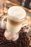 咖啡馆latte 库存照片