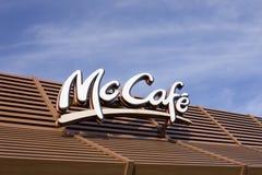 咖啡馆mc 库存图片