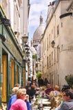 咖啡馆montmartre巴黎 库存图片