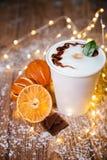 咖啡鸡尾酒用巧克力 库存图片