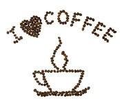 咖啡黑暗的重点我 库存图片