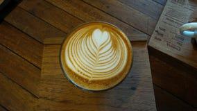 咖啡,拿铁艺术 免版税库存图片