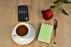 咖啡,玫瑰, 库存照片
