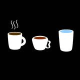 咖啡,茶,水象 库存图片