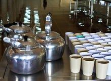 咖啡水壶 免版税库存照片