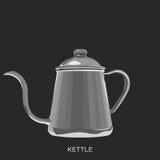 咖啡水壶 免版税库存图片