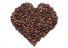 咖啡-心脏 免版税库存图片