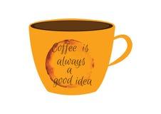 咖啡总是一个好想法 免版税库存图片