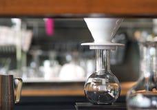 咖啡滴水设定 免版税库存照片