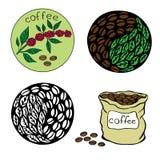 4咖啡 库存例证