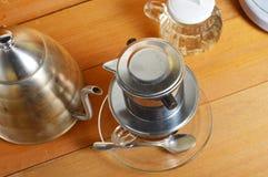 咖啡水滴 免版税库存图片