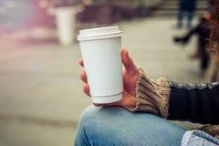 咖啡去 图库摄影