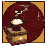 咖啡grunge磨房 免版税库存照片