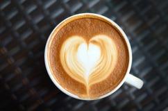 咖啡latte艺术 库存图片
