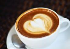 咖啡latte艺术 免版税库存图片