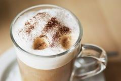 咖啡latte machiatto 免版税图库摄影