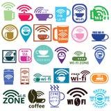 咖啡wifi 免版税库存图片