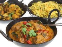 咖喱印地安人膳食 图库摄影