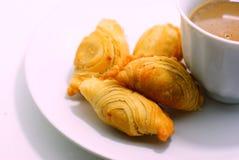 咖喱吹和咖啡 免版税库存照片