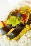 咖喱猪肉黄色 免版税库存照片