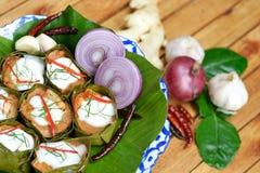 咖喱被蒸的鱼酱 免版税库存图片