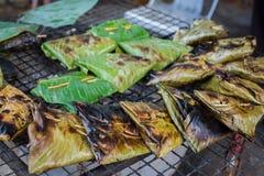咖喱被蒸的鱼酱 库存照片