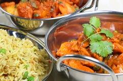咖喱食物印地安人膳食 免版税库存照片