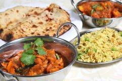 咖喱食物印地安人膳食 免版税库存图片