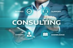 咨询的专家意见支助服务企业概念 免版税库存图片