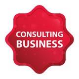 咨询的企业有薄雾的玫瑰红的starburst贴纸按钮 皇族释放例证